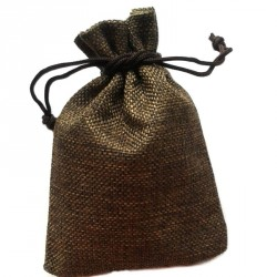 Săculeț cu lavandă panză - maro