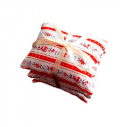 Set de pernuțe aromaterapeutice LavandEssence – Floral red stripes